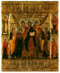 Деисус (Седмица), со святыми на полях