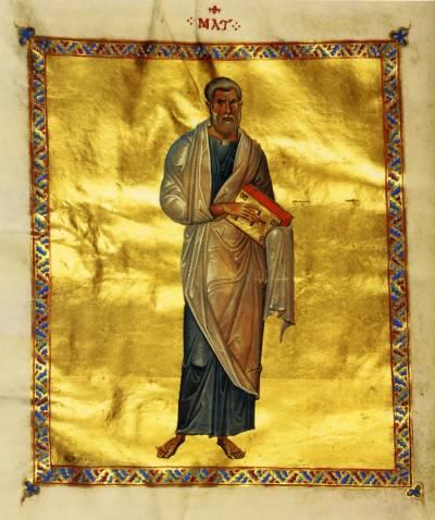 St Matthew the Evangelist - Codex Theodosianus [cod.204], fol. 8