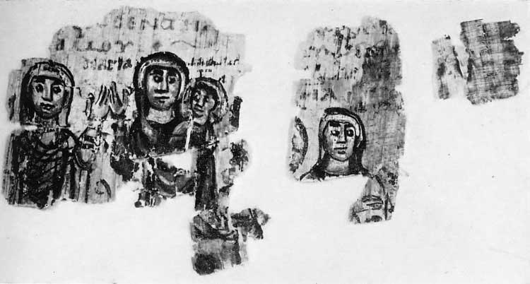 Богоматерь с Младенцем. Елисавета, Анна - Александрийская мировая хроника [№310/1–8], фрагмент 7, верх