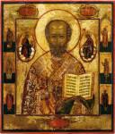 Николай Чудотворец, с избранными святыми на полях