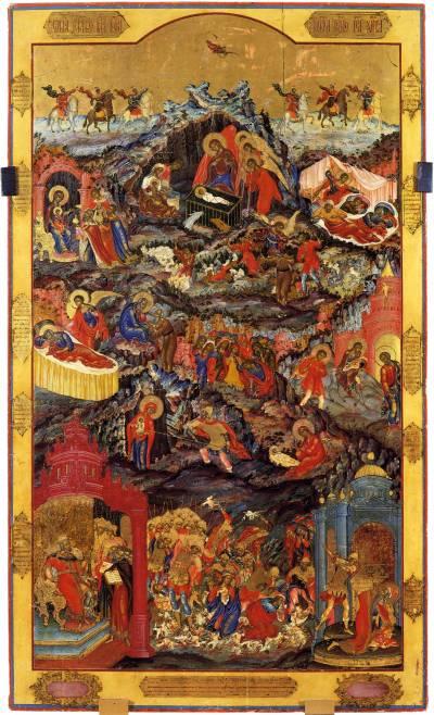Рождество Христово, со сценами жития