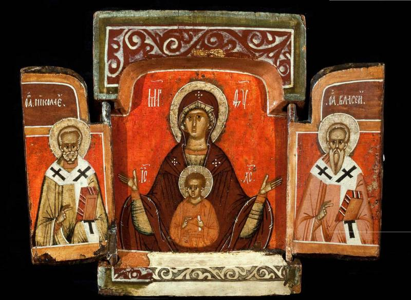 Богоматерь Знамение, Никола и Власий