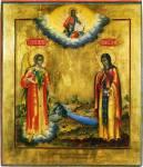 Архангел Гавриил и мученица Евгения