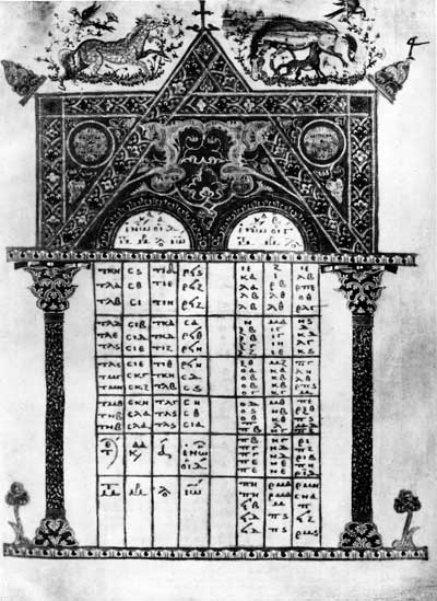 Таблица канонов - Евангелие [gr.64], л. 4
