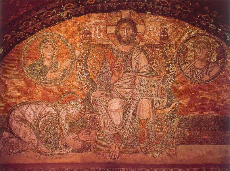 Император Лев VI перед Христом