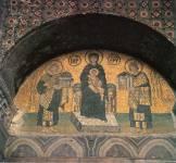 Богоматерь с Младенцем между императорами Юстинианом и Константином