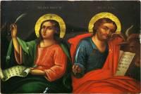 Евангелисты Иоанн Богослов и Лука
