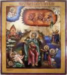 Огненное восхождение пророка Илии со сценами жития