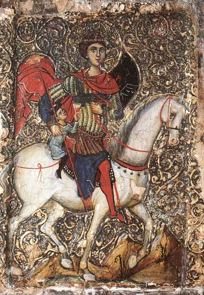 Saint George with an adolescent