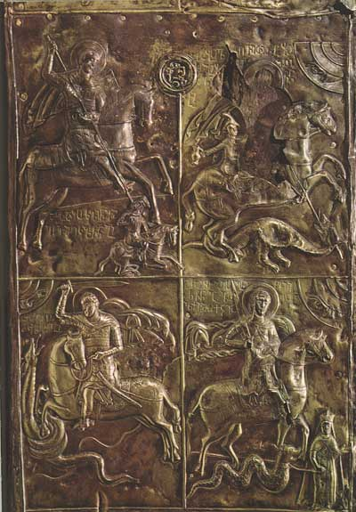 Четыре сцены из жития святого Георгия
