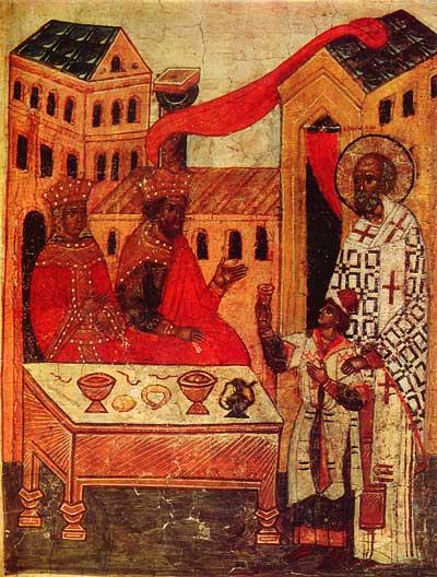 St.Nicholas liberates Basil from Arabian captivity