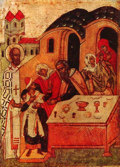 St.Nicholas returning Basil to his parents