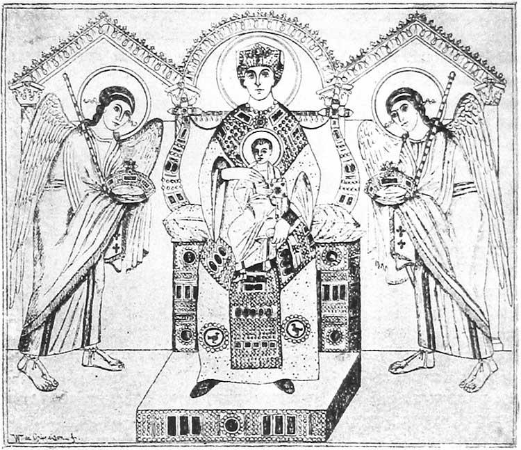 Богоматерь с Младенцем на троне