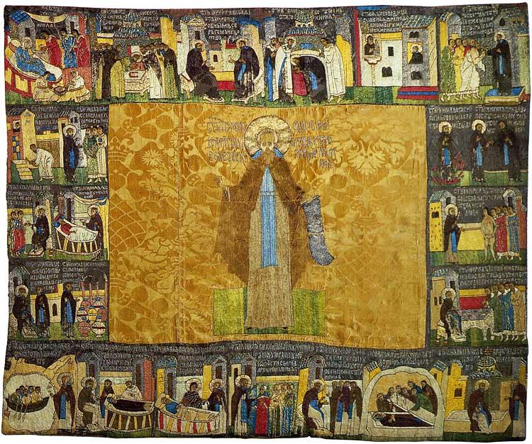Преподобный Кирилл Белозерский, с житием в 19 клеймах