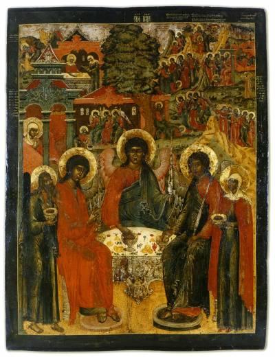 Троица Ветхозаветная, в деяниях