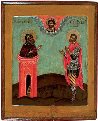 Преподобный Симеон Столпник и мученик Иоанн Воин
