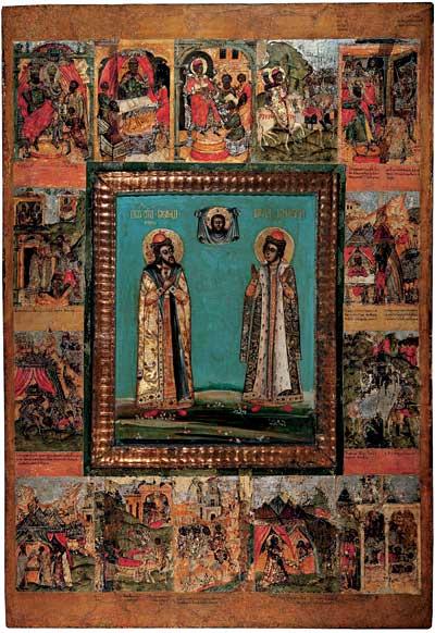 Рама с клеймами жития святых князей Бориса и Глеба