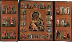 Богоматерь Владимирская, с праздниками и избранными святыми