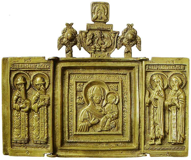 Богоматерь Одигитрия. Избранные святые