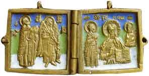 Деисус. Ангел-хранитель и святитель Никола Чудотворец