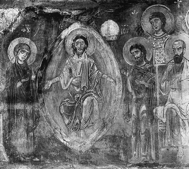 Христос с предстоящими Богоматерью и Иоанном Предтечей