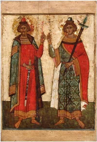 Борис и Глеб — средник иконы