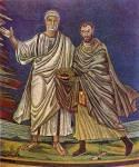 Апостол Петр и святой Косма