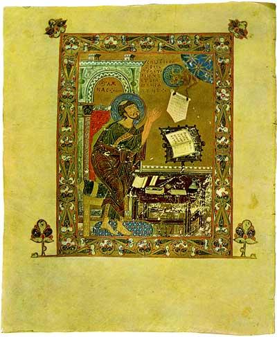 St Luke the Evangelist - Ostromir Gospels [F.п.I.5],