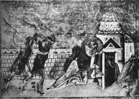 Побиение сщмч. Автонома камнями и палками
