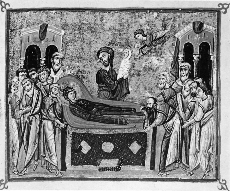 Успение Богоматери - Евангелие [cod.587], л. 163 об.