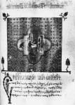 Заставка с рождеством Иоанна Предтечи и фигурный инициал с изображением евангелиста Луки