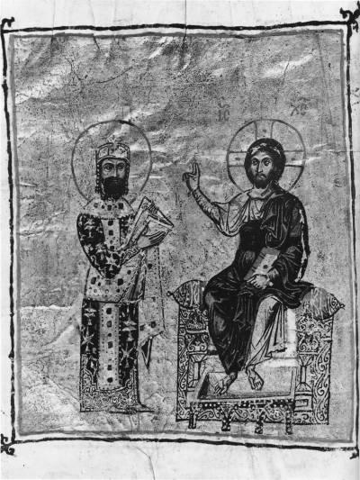 АлексейI Комнин перед Христом - Догматический Паноплий Евфимия Зигабена [Vat. gr.666], л. 2 об.