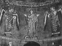 Богоматерь Оранта и архангелы Михаил и Гавриил
