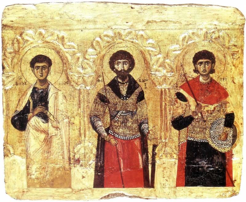 Апостол Филипп, Феодор Тирон и Димитрий