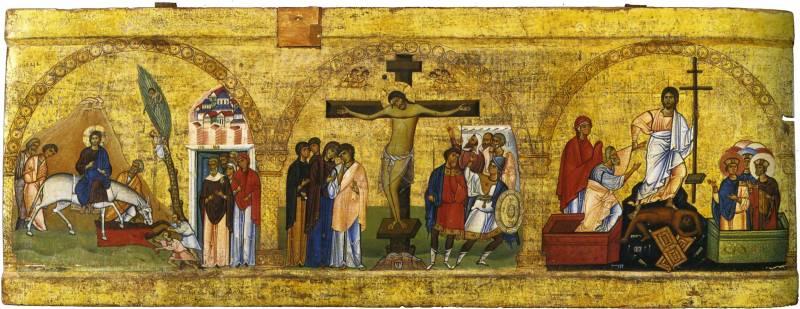 Вход в Иерусалим. Распятие. Сошествие во ад