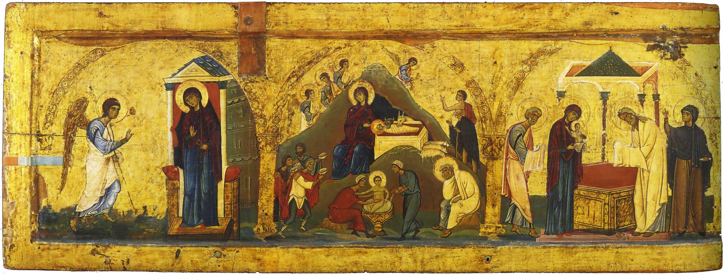 Verkündigung, Geburt Christi. Darbringung Christi im Tempel