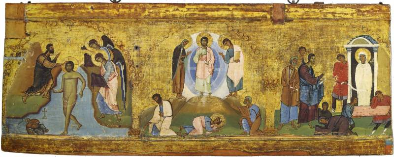 The Baptism of Christ. The Transfiguration. The Raising of Lazarus