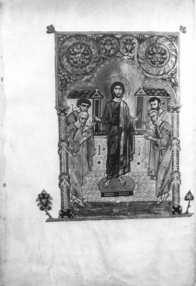Christ and Four Evangelists - Vani Gospels [A1335], fol. 8 r