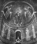 Христос на троне, архангелы Михаил и Гавриил и св. Григорий, Мартин, Амвросий и Августин
