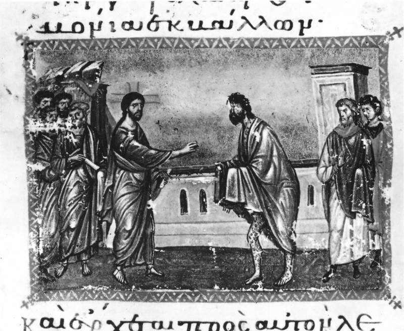 Исцеление прокаженного - Евангелие [cod.5], л. 177 об.