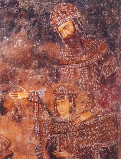 Король УрошI и королевич Драгутин