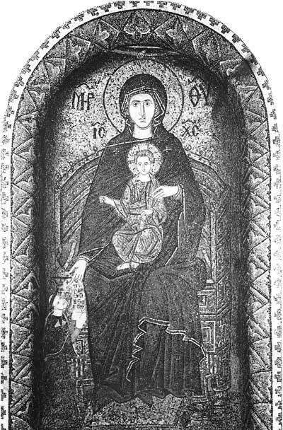 Богоматерь с Младенцем и неизвестным епископом