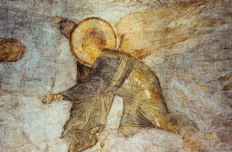 Ангел, свивающий небеса в свиток