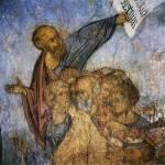 Апостолы Петр и Павел с группой святых