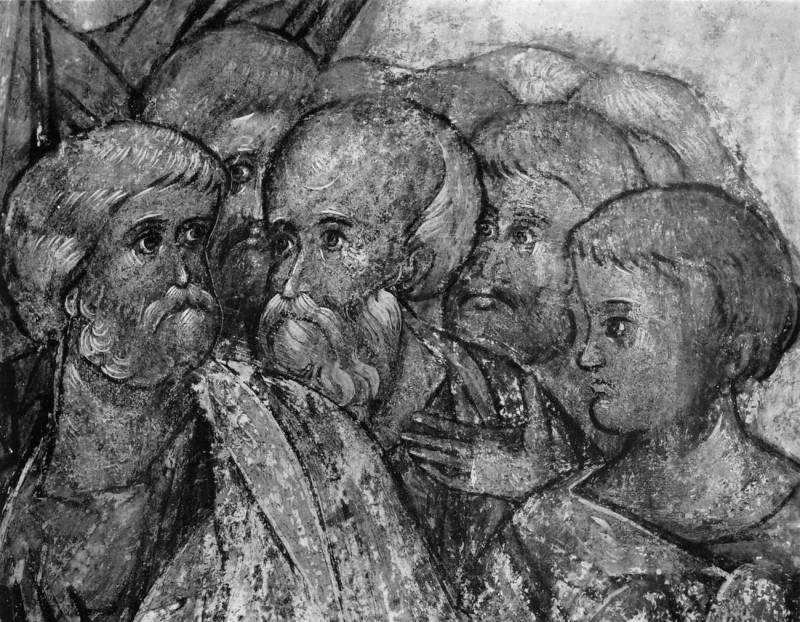 Апостол Петр с группой святых