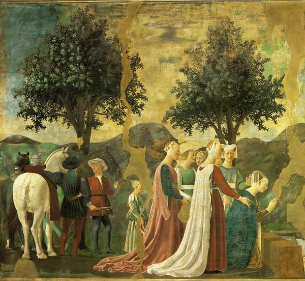 Царица Савская поклоняется Священному Древу