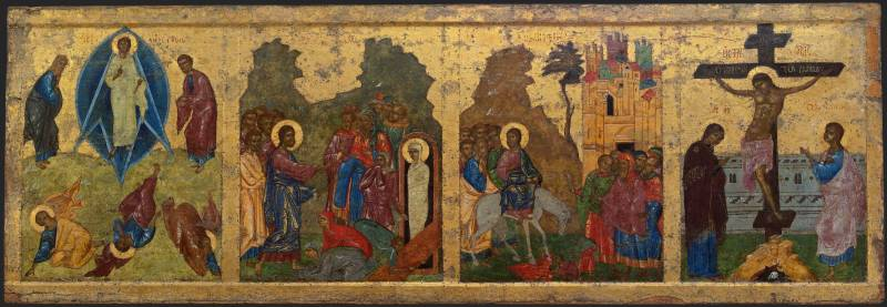 Преображение, Воскрешение Лазаря, Вход в Иерусалим, Распятие