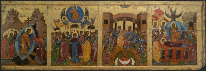 The Descent into Hell. The Ascension. The Descent of the Holy Spirit. The Dormition