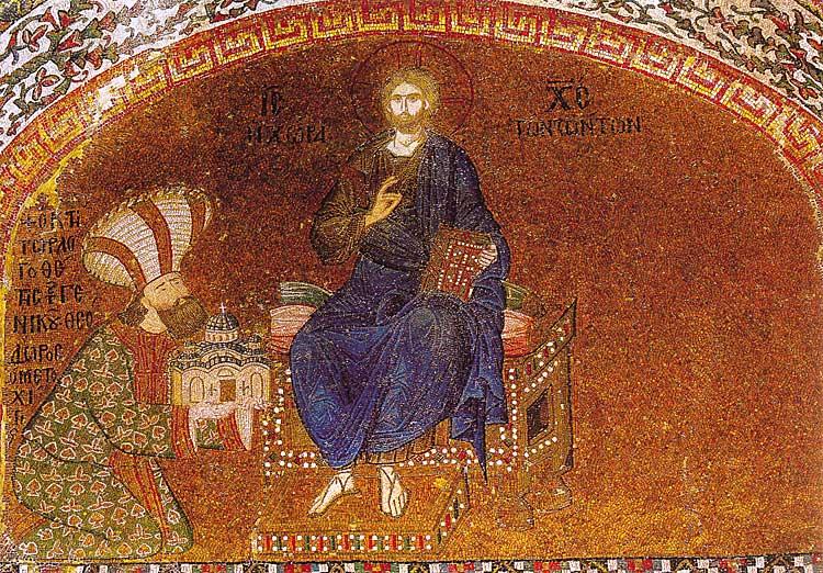 Христос с Феодором Метохитом