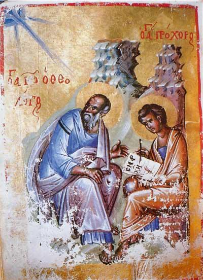 Евангелист Иоанн с Прохором - Новый Завет [Theol.gr.300], л. 134 об.